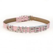 New York Pink Glitz Personalised Fashion Collar