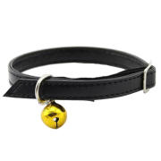 Black Personalised Cat Collar(with safety elastic)