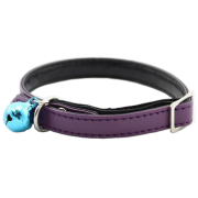 Purple Personalised Cat Collars(with safety elastic)